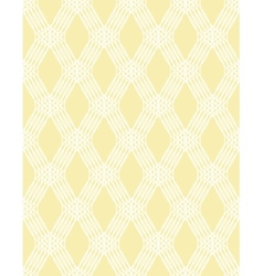Abstract white line seamless pattern on yellow vector image vector image
