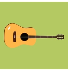Acoustic guitar icon of the vector image vector image