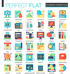 Business essential complex flat icon vector