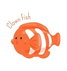 Clown fish anemone child fun pattern icon vector