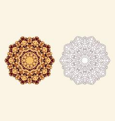 Coloring book zentangle flower vector