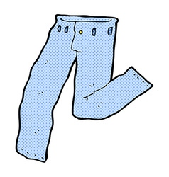 Comic cartoon jeans vector