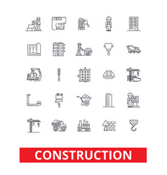 construction architecture buildings real estate vector image vector image