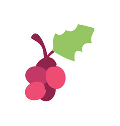 Design christmas grape icon vector