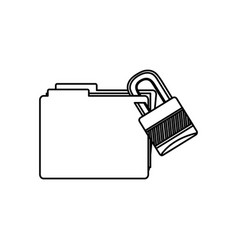 figure file and close lock icon vector image