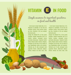 Healthy food vitamin e banner vector