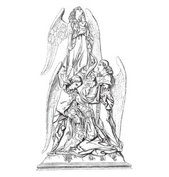 Massacre of the innocents was a wood sculpture vector