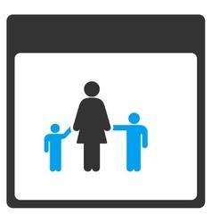Mother calendar page toolbar icon vector