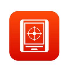radar icon digital red vector image