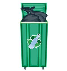 Recycling dustbin vector