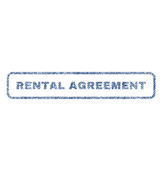 Rental agreement textile stamp vector