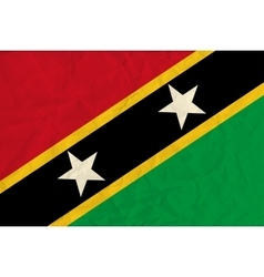 Saint Kitts and Nevis paper flag vector image