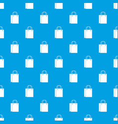 Shopping bag pattern seamless blue vector