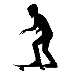 skateboarders silhouette vector image vector image