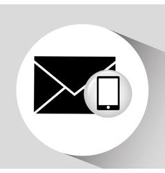 Smartphone screen email social media vector