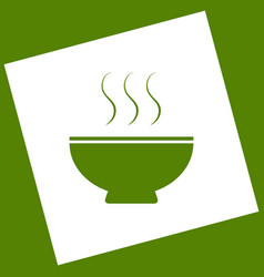 Soup sign white icon obtained as a result vector