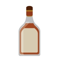Tequila bottle alcoholic beverage vector