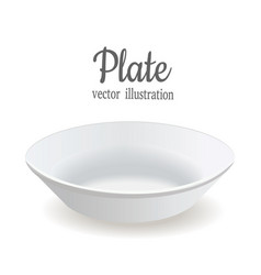 The plate is deep white plate vector