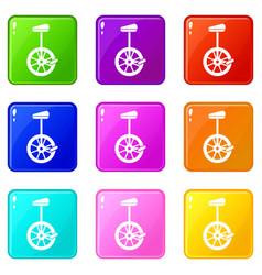 Unicycle set 9 vector