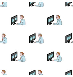 Video conference icon in cartoon style isolated on vector