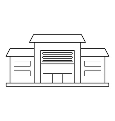 Warehouse icon outline style vector