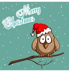 Xmas Greeting Card Sparrow vector image