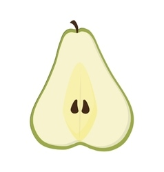 Pear half icon vector