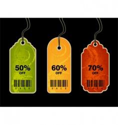 shopping tags vector image