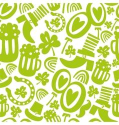 Seamless StPatricks day pattern vector image