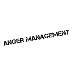 Anger management rubber stamp vector