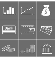 Icons money vector