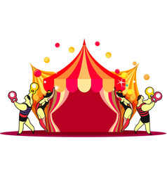 circus tent show vector image