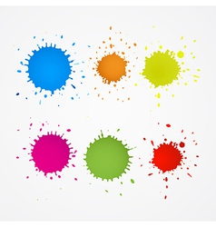 Colorful Splashes Blots Stains Set vector image