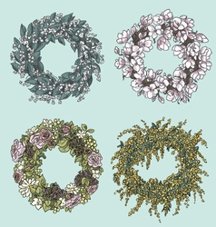 wreaths drawing Flowers decoration vector image