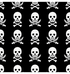 Pirate skulls pattern vector