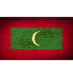Flags maldives with dirty paper texture vector