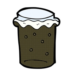 Comic cartoon glass of stout beer vector