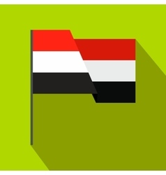 Flag of egypt icon flat style vector