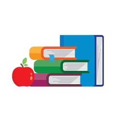 Stack of books vector