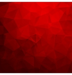 Abstract red geometric triangle background vector image