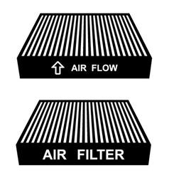 air filter symbols vector image vector image