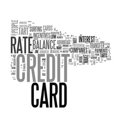 Are you a credit card tart text word cloud concept vector