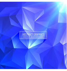 Blue abstract triangle low poly background design vector