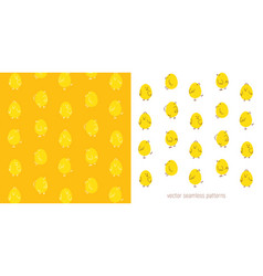 easter seamless pattern with chicks vector image vector image