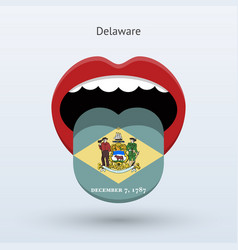 Electoral vote of delaware abstract mouth vector