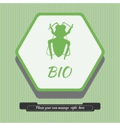 Emblem with bee vector image