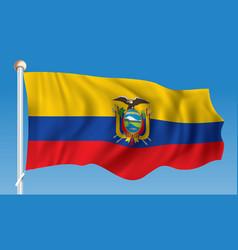 Flag of ecuador vector