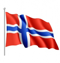 flag of Norway vector image vector image