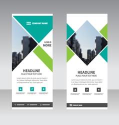 Green business roll up banner flat design template vector