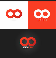 Infinity symbol logo design icon set background vector